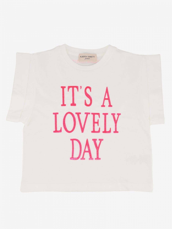 T-shirt Alberta Ferretti Junior: T-shirt Alberta Ferretti Junior con scritta bianco 1 1