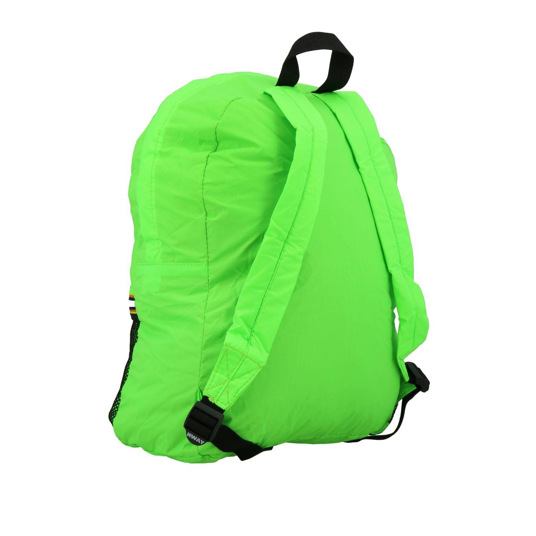 Zaino K-way in nylon con stampa logo verde 3