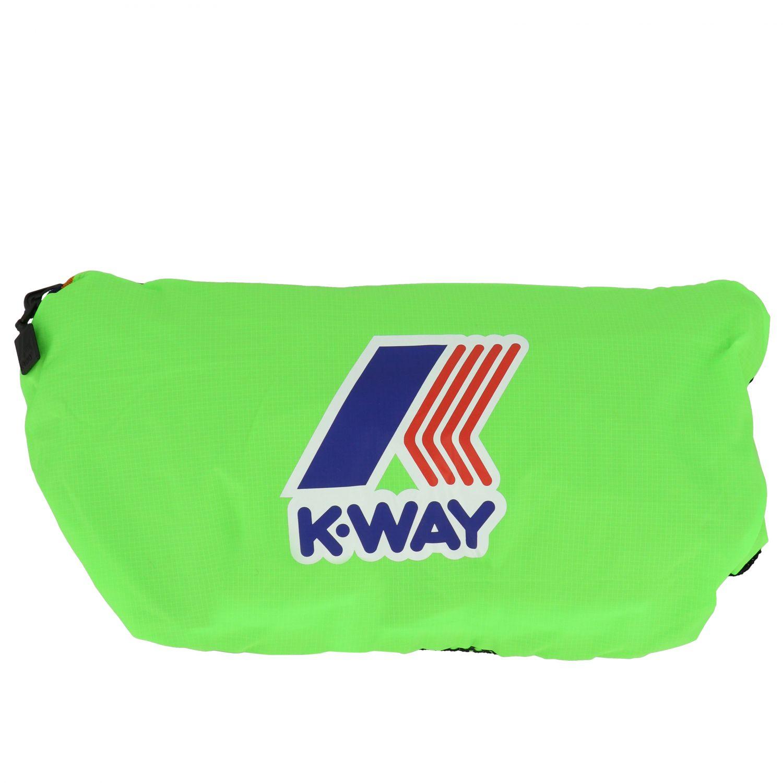 Zaino K-way in nylon con stampa logo verde 6