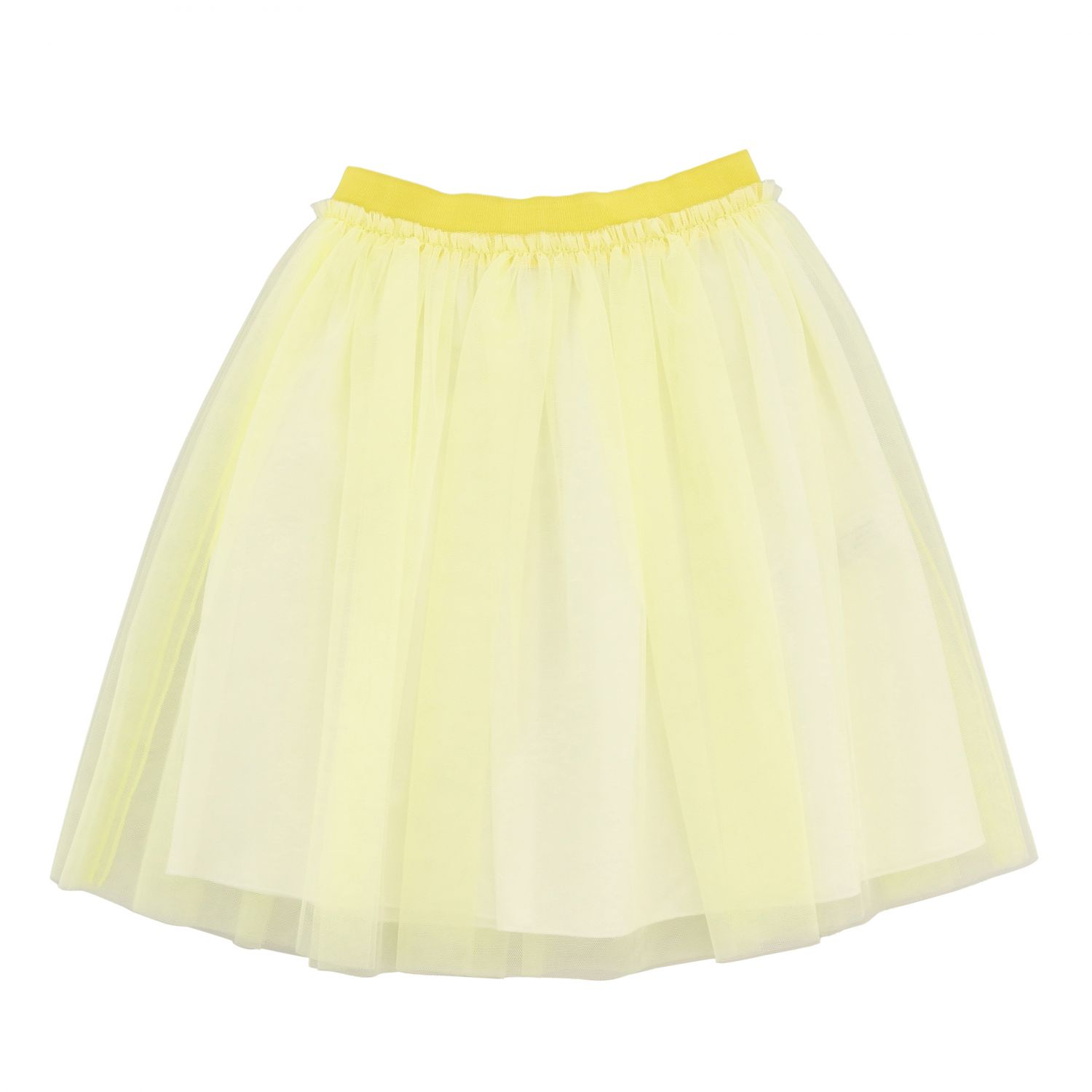 Il Gufo wide skirt in tulle yellow 1
