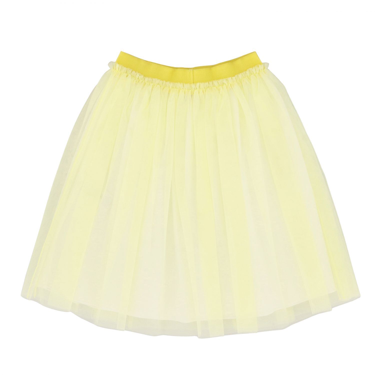 Il Gufo wide skirt in tulle yellow 2