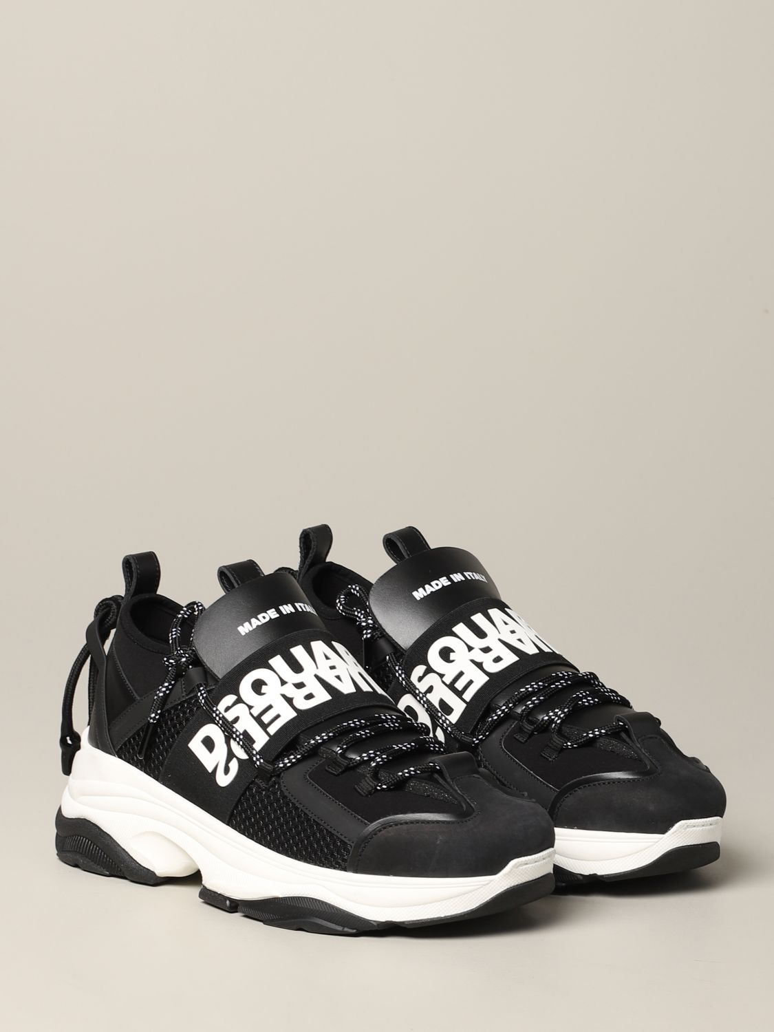 Sneakers Dsquared2: Dsquared2 sneakers in leather and padded mesh black 2