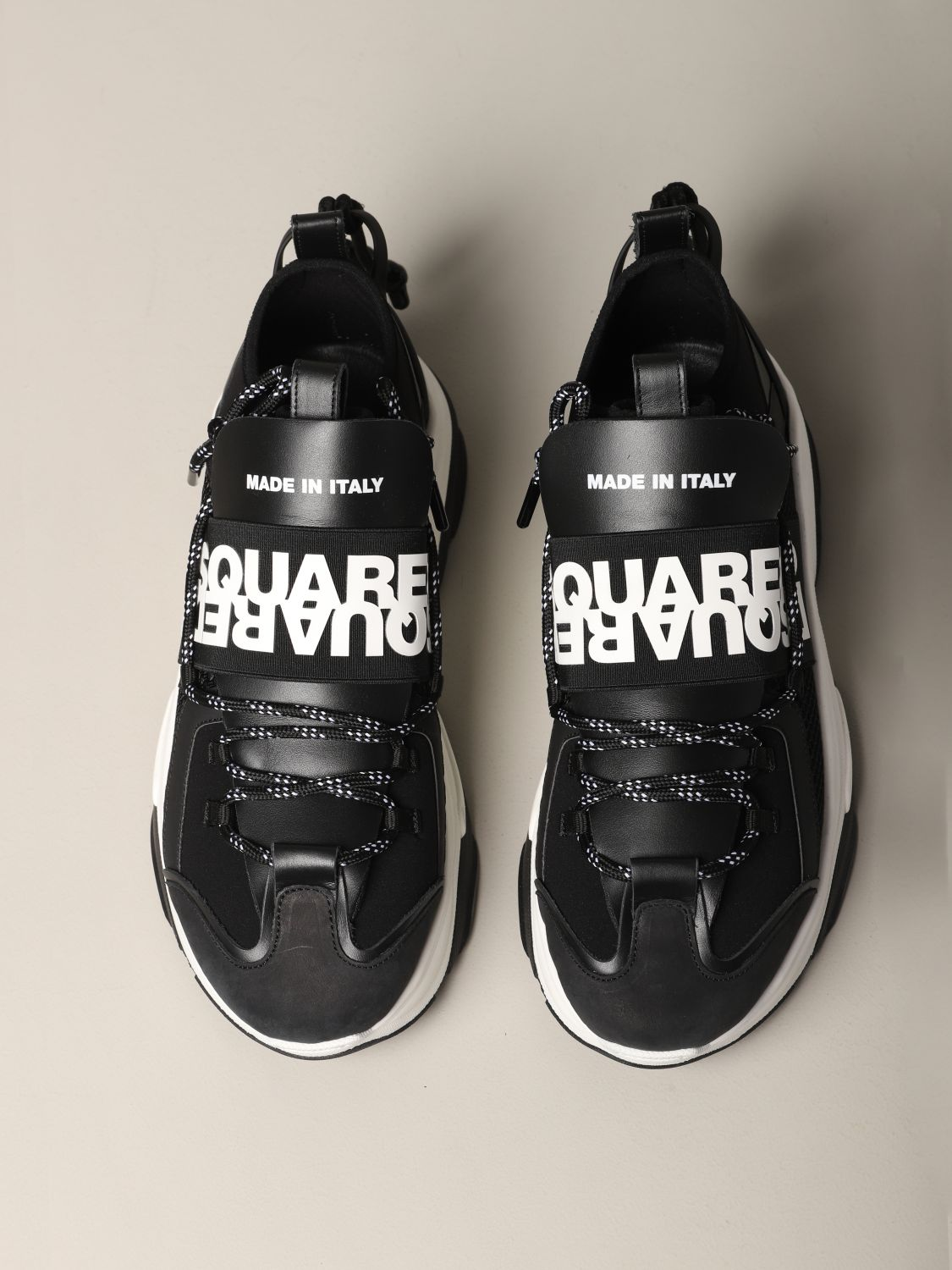 Sneakers Dsquared2: Dsquared2 sneakers in leather and padded mesh black 3