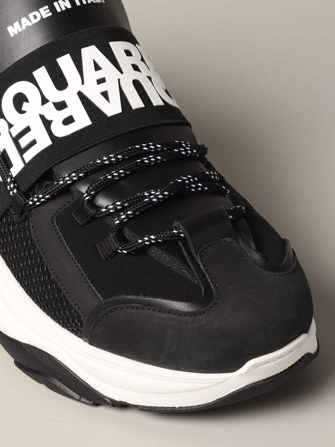 Sneakers Dsquared2: Dsquared2 sneakers in leather and padded mesh black 4