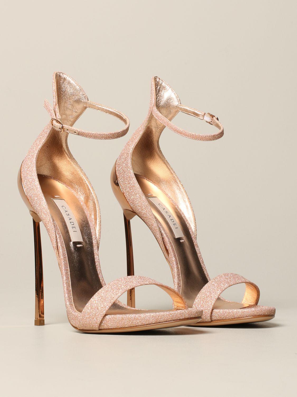 Heeled sandals women Casadei pink 2