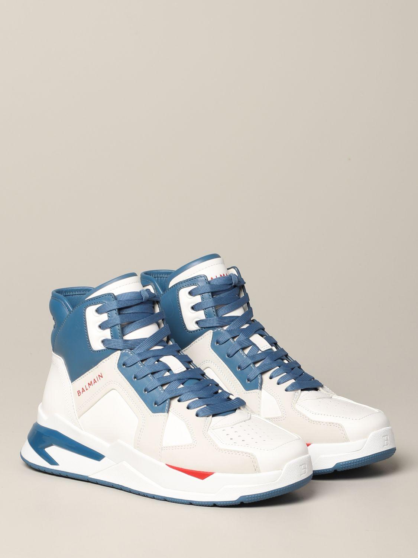 Sneakers Balmain: Balmain high sneakers in bicolor leather white 2