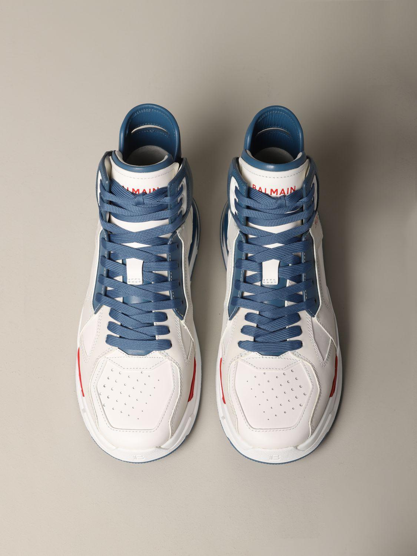 Sneakers Balmain: Balmain high sneakers in bicolor leather white 3