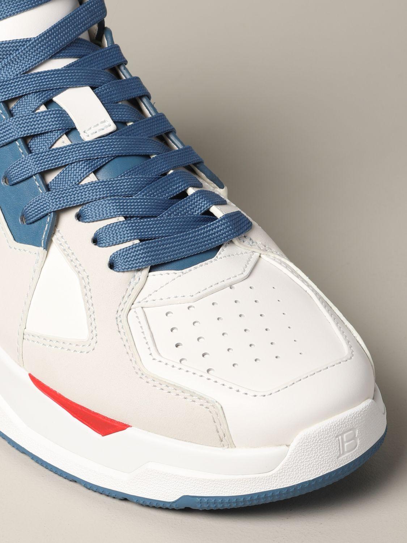 Sneakers Balmain: Balmain high sneakers in bicolor leather white 4