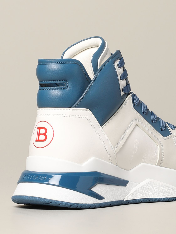 Sneakers Balmain: Balmain high sneakers in bicolor leather white 5