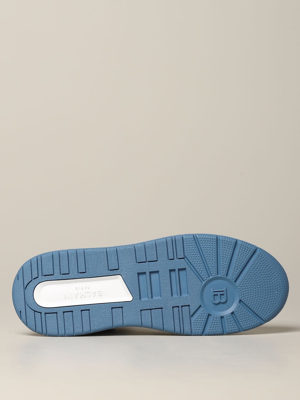 Sneakers Balmain: Balmain high sneakers in bicolor leather white 6