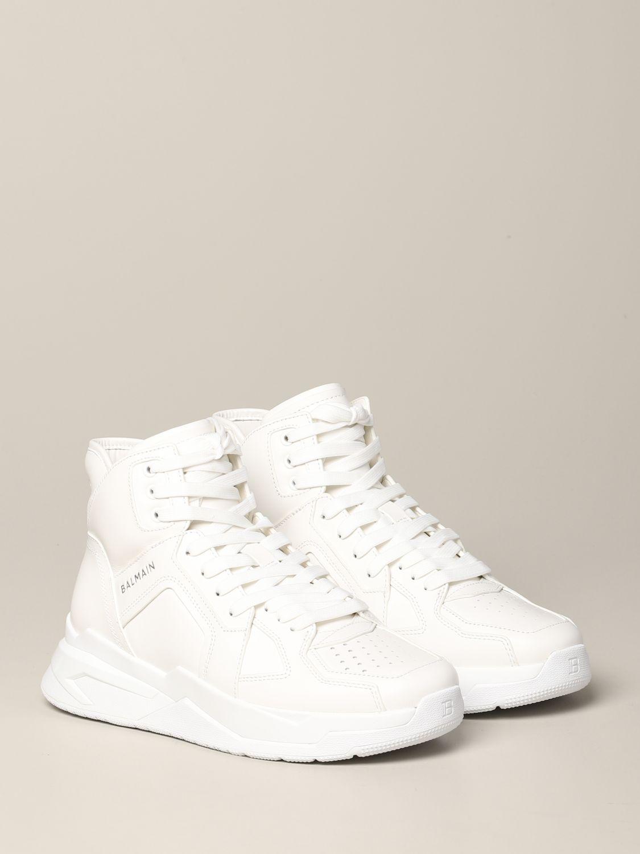Sneakers Balmain: Balmain hohe Leder Sneakers weiß 2