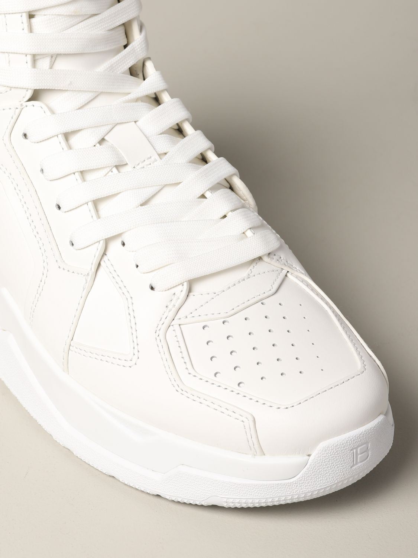 Sneakers Balmain: Balmain hohe Leder Sneakers weiß 4