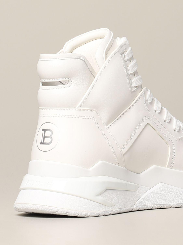 Sneakers Balmain: Balmain hohe Leder Sneakers weiß 5