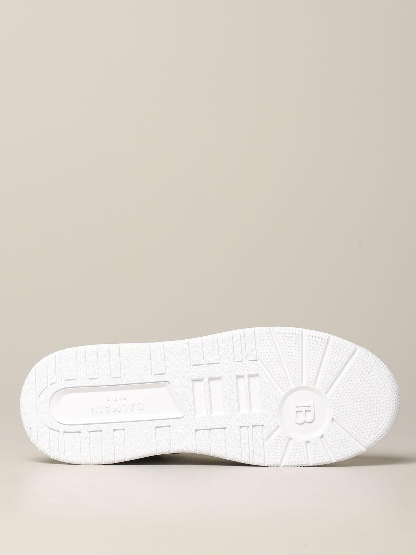 Sneakers Balmain: Balmain hohe Leder Sneakers weiß 6