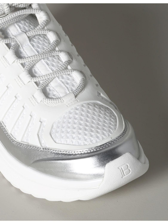 Sneakers Balmain: Balmain Sneakers aus Leder und gepolstertem Mesh weiß 4