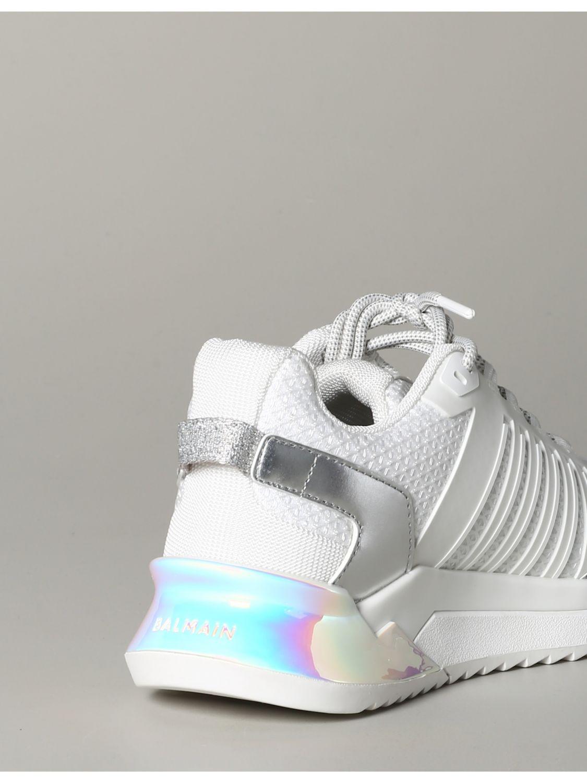 Sneakers Balmain: Balmain Sneakers aus Leder und gepolstertem Mesh weiß 5