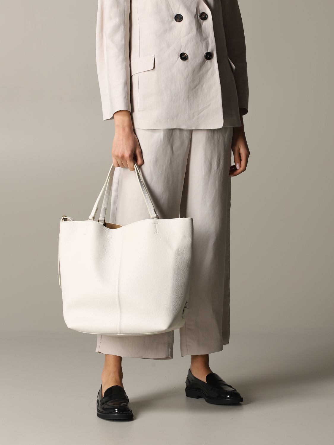 Tote bags women Max Mara yellow cream 2
