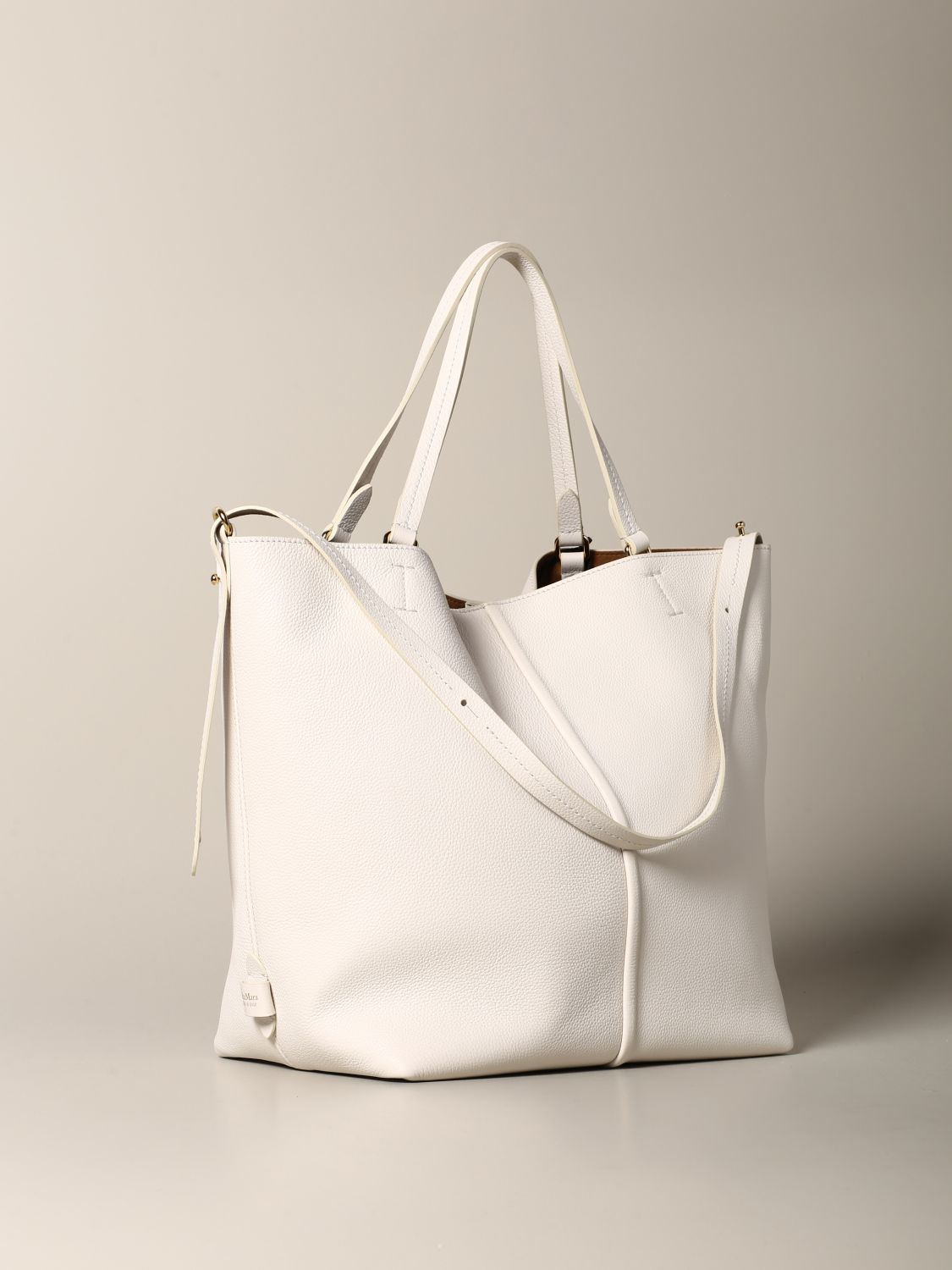 Tote bags women Max Mara yellow cream 3