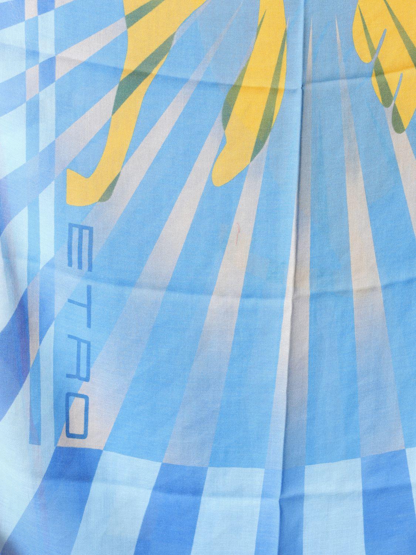 Écharpe Etro avec motif all over bleu azur 3