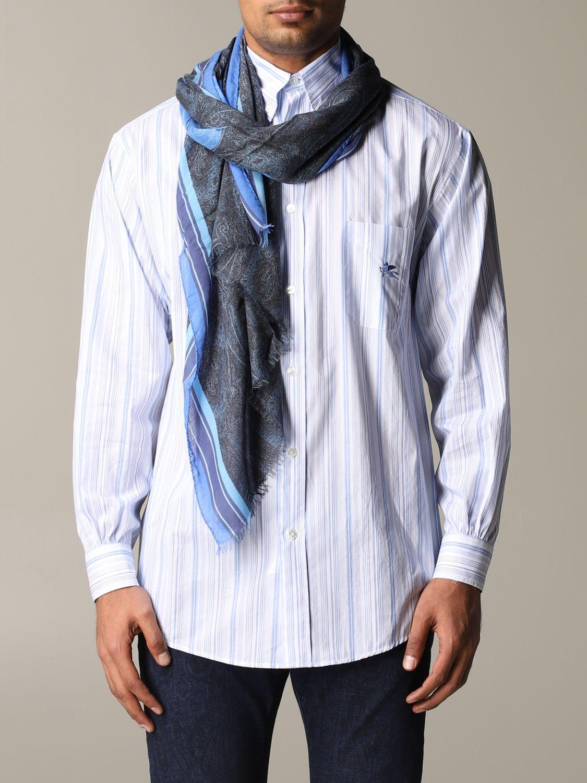 Foulard Etro avec motif Paisley bleu 1