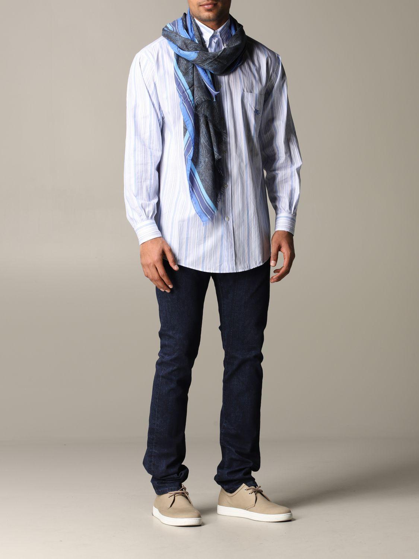 Foulard Etro avec motif Paisley bleu 2