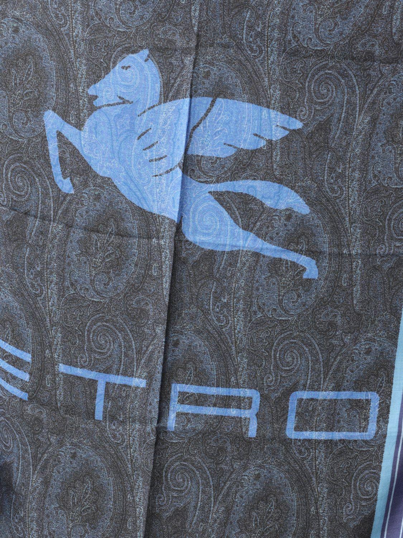 Foulard Etro avec motif Paisley bleu 3