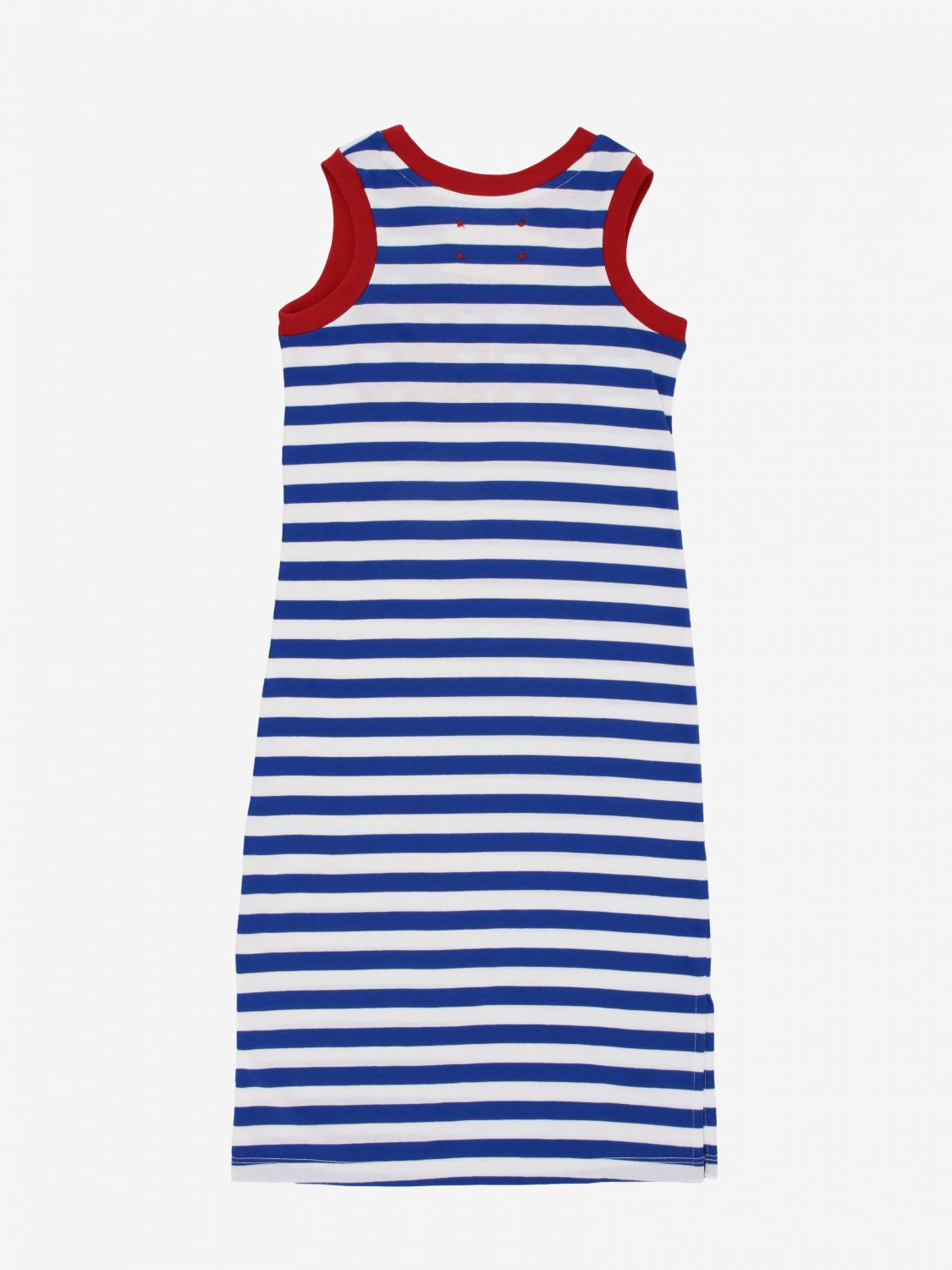 Dress Alberta Ferretti Junior: Alberta Ferretti Junior striped dress with I love you writing blue 2