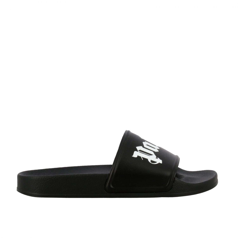 Sandalo Palm Angels in gomma con logo nero 1