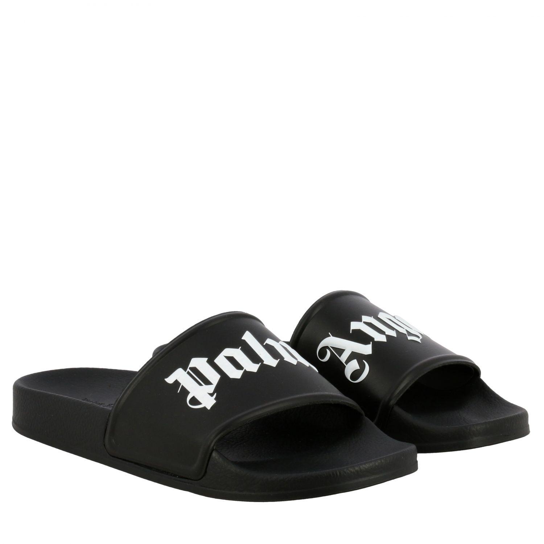 Sandalo Palm Angels in gomma con logo nero 2