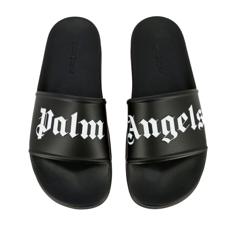 Sandalo Palm Angels in gomma con logo nero 3