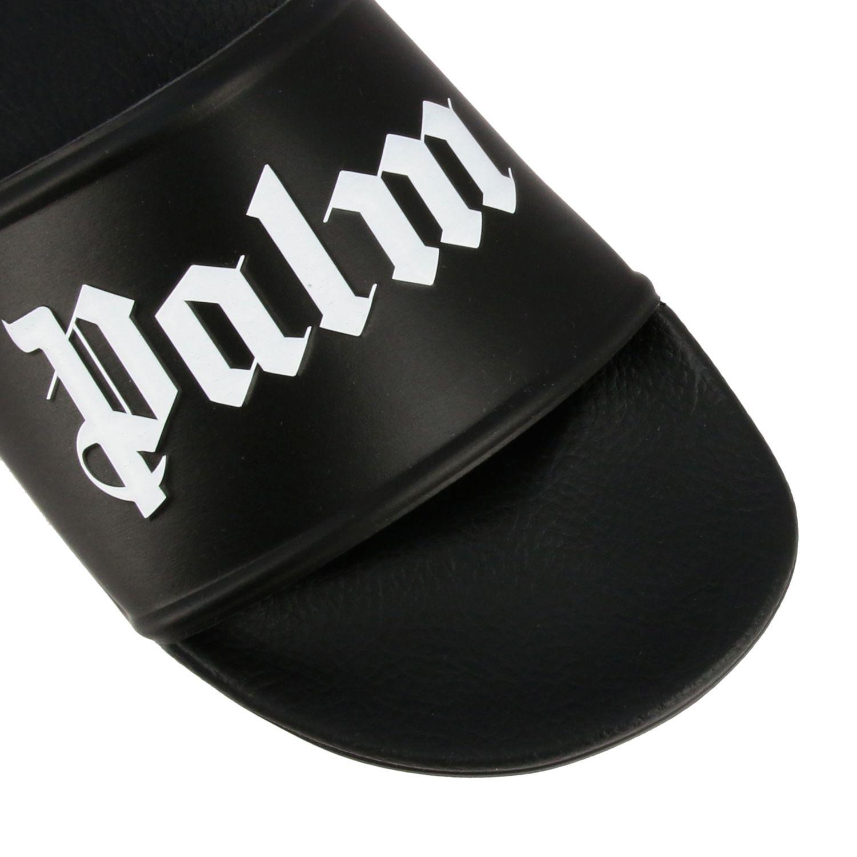 Sandalo Palm Angels in gomma con logo nero 4