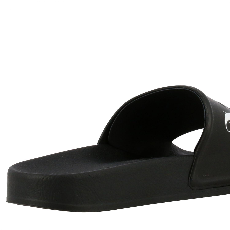 Sandalo Palm Angels in gomma con logo nero 5