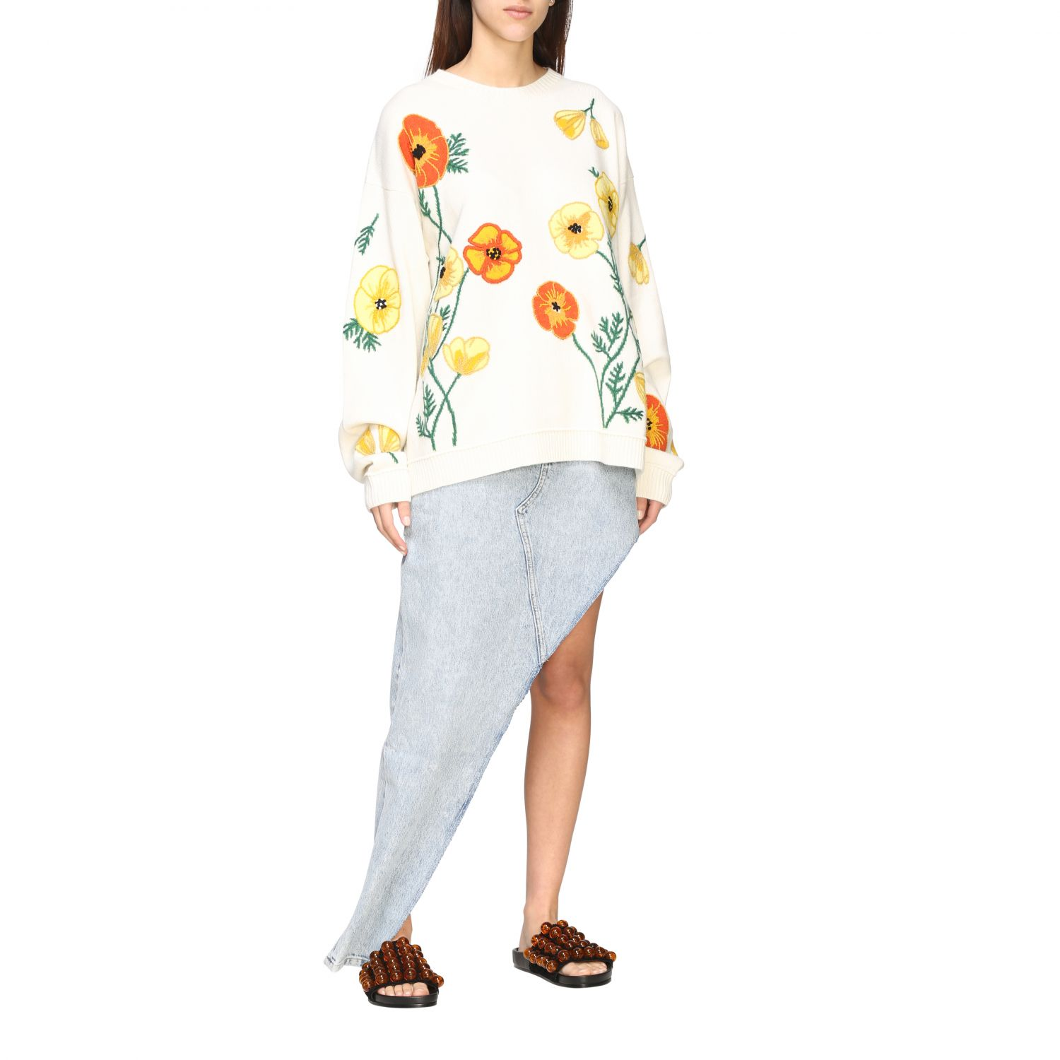 Pull Alanui: Pull Alanui avec broderies florales multicolore 2