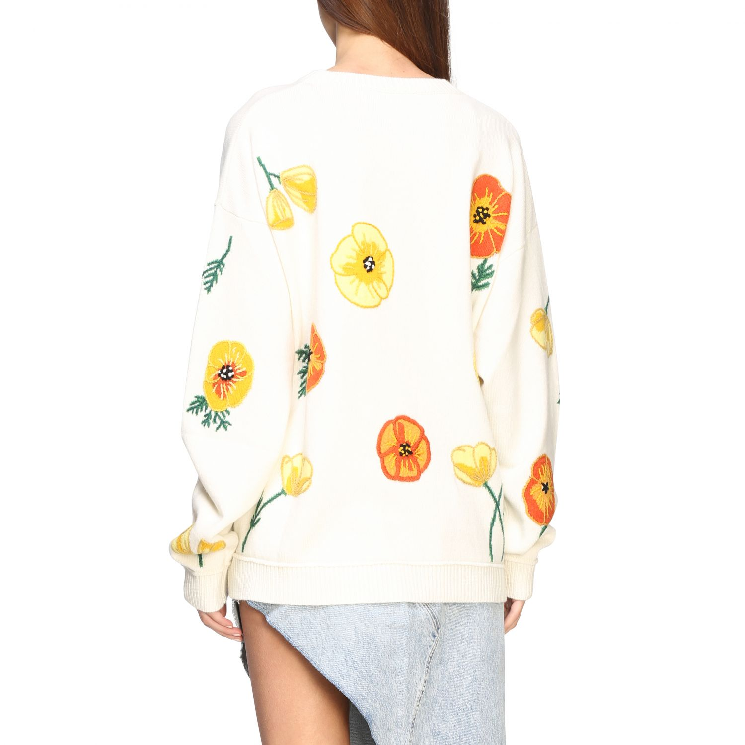 Pull Alanui: Pull Alanui avec broderies florales multicolore 3