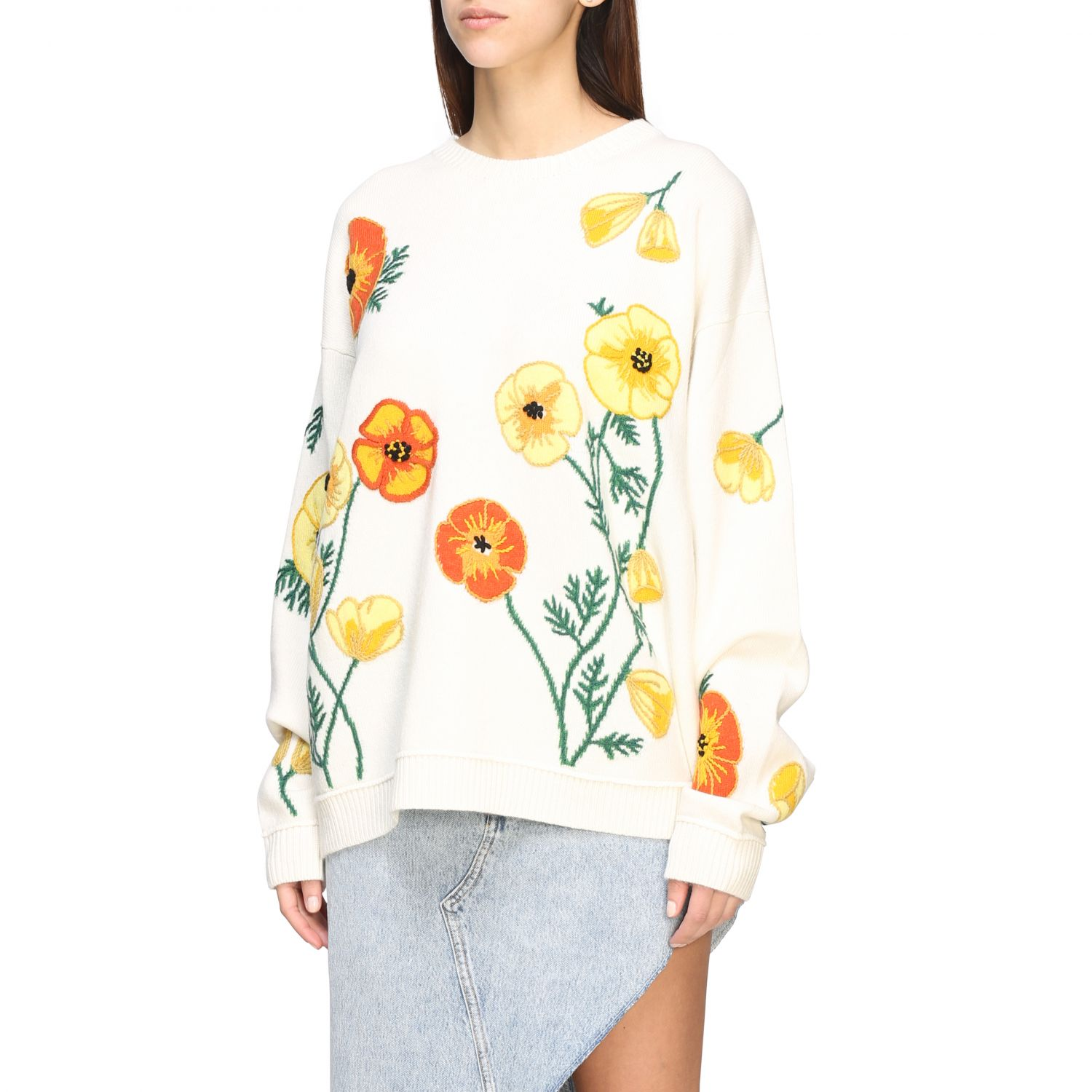 Pull Alanui: Pull Alanui avec broderies florales multicolore 4