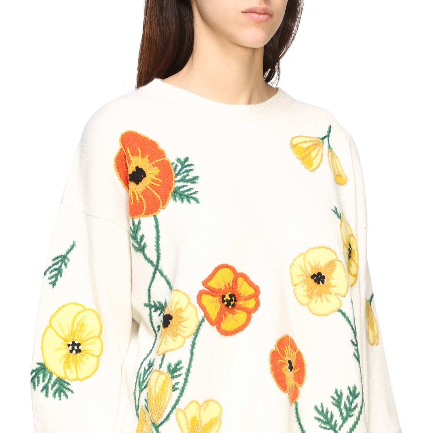 Pull Alanui: Pull Alanui avec broderies florales multicolore 5