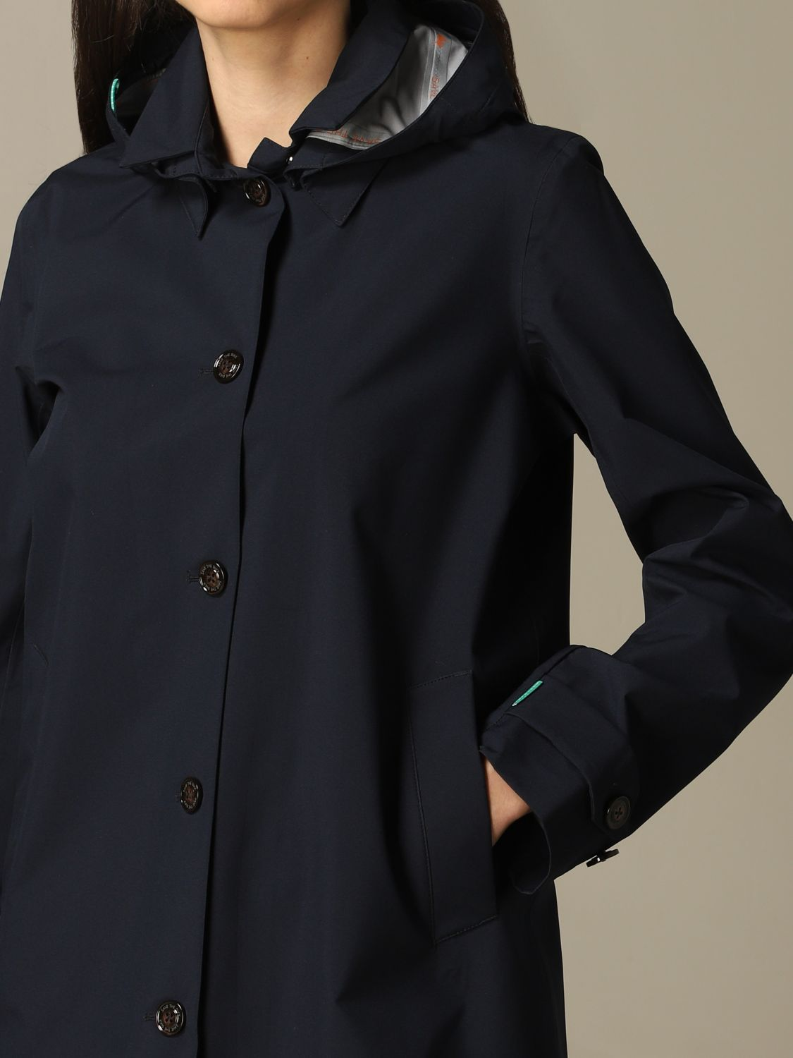 Save The Duck hooded coat blue 3