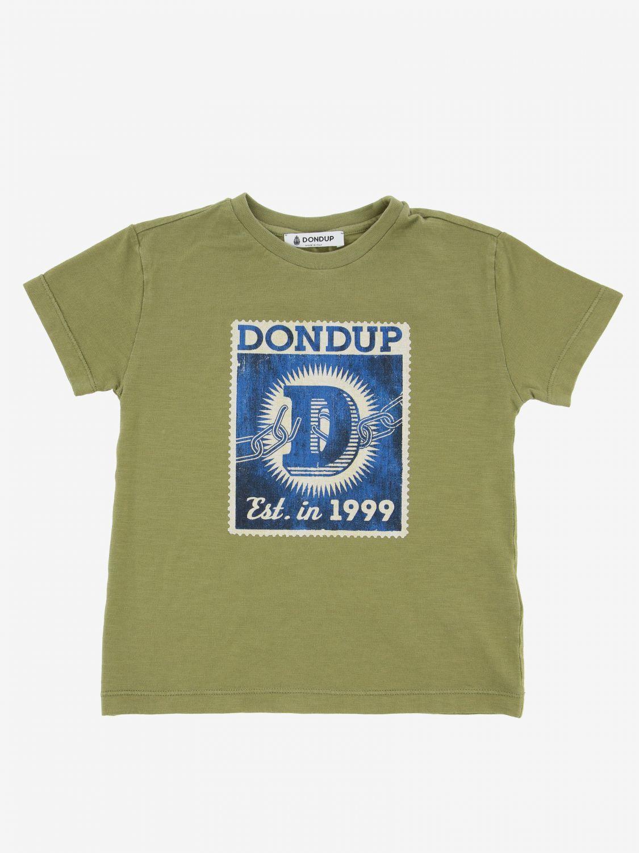 Dondup logo印花T恤 军绿色 1