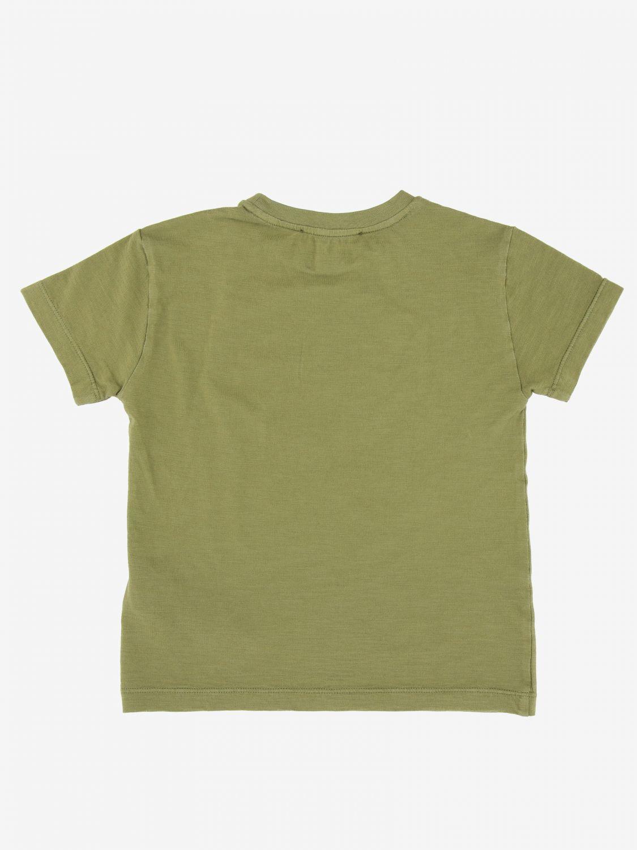 Dondup logo印花T恤 军绿色 2