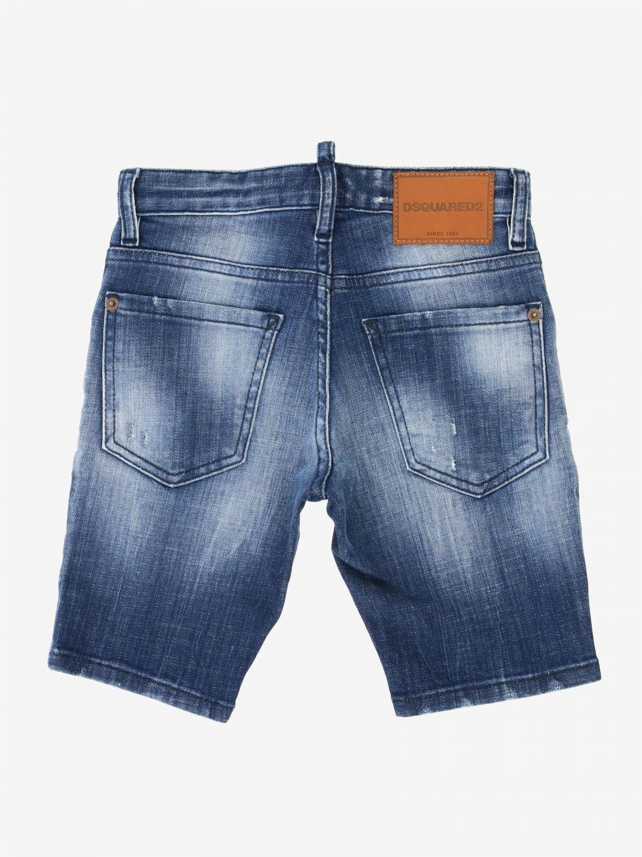 Short en jean Dsquared2 Junior avec déchirures denim 2