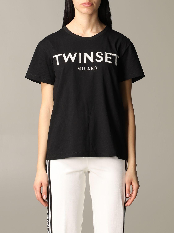 T-shirt damen My Twin schwarz 1