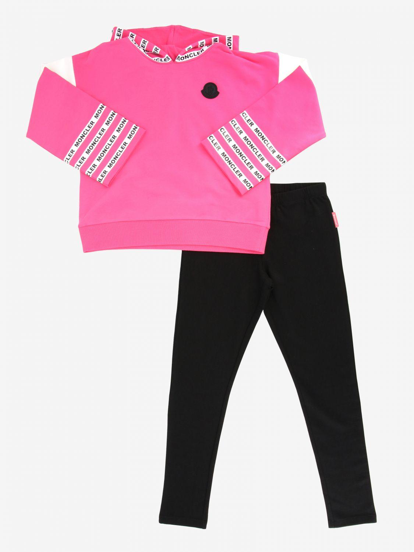 Kombinationen Moncler: Moncler Sweatshirt + Leggings pink 1