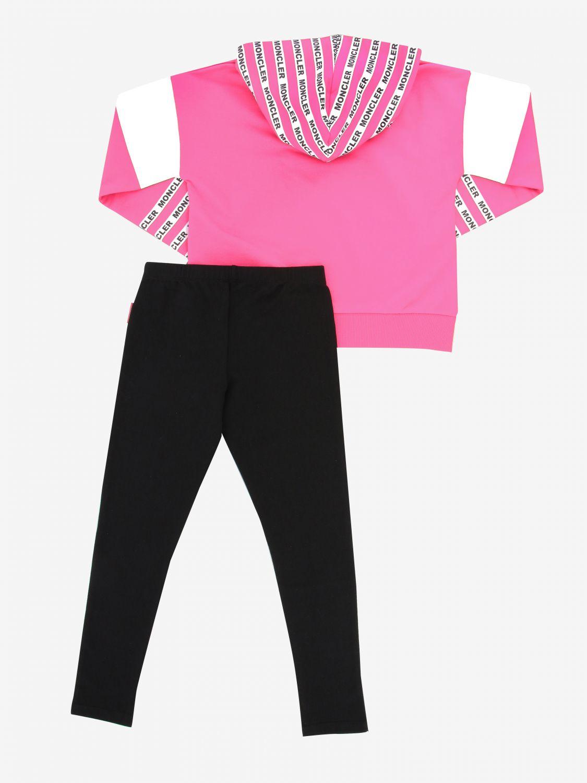 Kombinationen Moncler: Moncler Sweatshirt + Leggings pink 2
