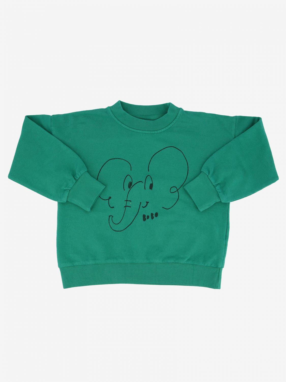 Bobo Choses sweatshirt with baby elephant green 1
