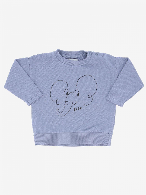 Bobo Choses sweatshirt with baby elephant violet 1
