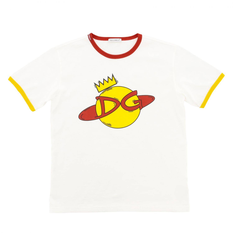 T-shirt Dolce & Gabbana: T-shirt Dolce & Gabbana a maniche corte con stampa DG bianco 1