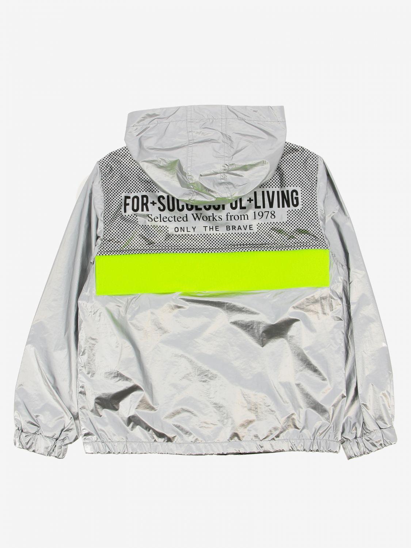 Giacca Diesel: Giacca sportiva Diesel in tessuto laminato con logo argento 2