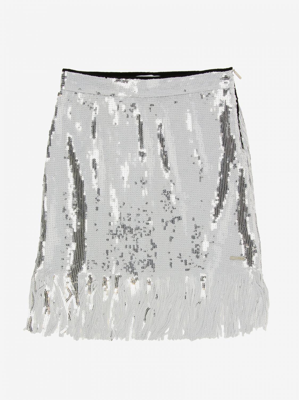 Skirt kids Msgm Kids silver 1