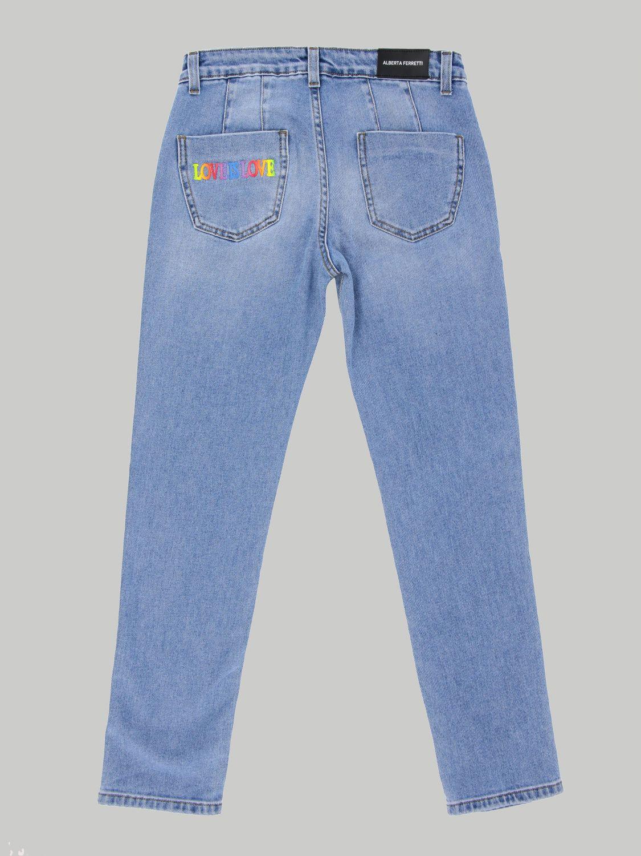 Jeans Alberta Ferretti Junior: Jeans kids Alberta Ferretti Junior blue 2
