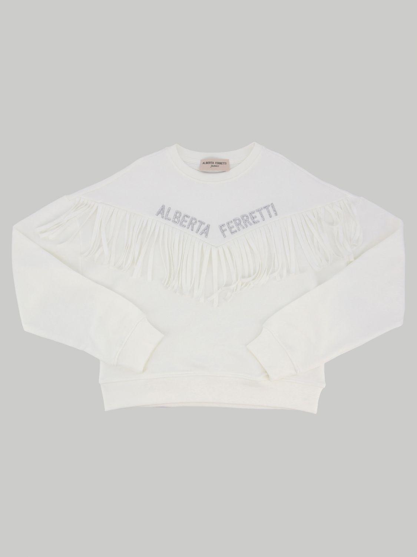 毛衣 Alberta Ferretti Junior: Alberta Ferretti Junior 流苏装饰上衣 白色 1